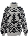 Womens Vintage Oversized Reindeer Ski Sweater