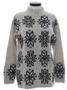 Womens Totally 80s Wool Snowflake Ski Sweater
