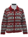Womens Wool Country Kitsch Style Ugly Christmas Sweater Sweater
