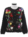 Womens Ugly After Christmas Y2K Vintage New Years Eve Sweater