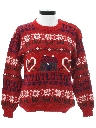 Womens Country Kitsch Totally 80s Look Ugly Christmas Sweater