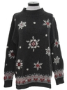 Womens Totally 80s Vintage Oversized Snowflake Ski Sweater
