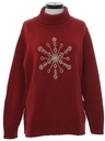 Womens Snowflake Ski Sweater