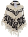 Womens Wool Hippie Poncho Sweater