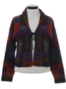 Womens Southwestern Hippie Style Sweater Jacket