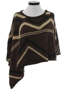 Womens Totally 80s Cocktail Poncho Cut Sweater