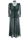 Womens Totally 80s Lace Maxi Dress