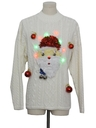 Unisex Multicolor Lightup Hand Embellished Ugly Christmas Sweater