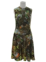 Womens Mod Photo Print Dress