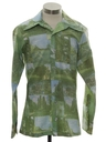 Mens Designer Photo Print Disco Shirt