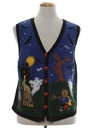 Womens Ugly Halloween Sweater Vest