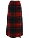 Womens Plaid Wrap Skirt