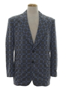 Mens Mod Plaid Disco Blazer Jacket