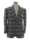 Mens Mod Plaid Disco Blazer Sport Coat Jacket