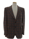 Mens Plaid Disco Blazer Sportcoat Jacket