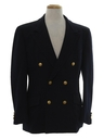 Mens Preppy Captains Style Blazer Sportcoat Jacket