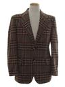 Mens Plaid Disco Blazer Sportcoat Jacket