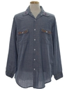 Mens Embroidered Hippie Chambray Shirt