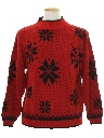 Mens Totally 80s Snowflake Ski Sweater