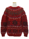 Mens Wool Totally 80s Snowflake Ski Sweater