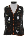 Womens Cheesy Kitschy Ugly Halloween Sweater Vest