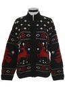 Womens Wool Reindeer Ski Sweater