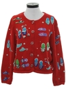 Womens Designer Kitschy Sweater