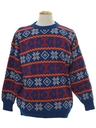 Mens Totally 80s Snowflake Ski Sweater
