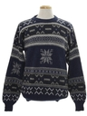 Mens Totally 80s Cosby Style Snowflake Ski Sweater