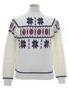 Mens Mod Snowflake Ski Sweater