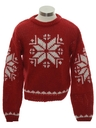 Mens or Boys Snowflake Ski Sweater
