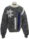 Mens/Boys Totally 80s Cosby Style Snowflake Ski Sweater