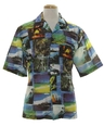 Mens Photo Print Disco Style Hawaiian Shirt