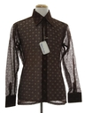 Mens Designer Solid Lace Disco Shirt*