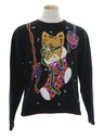 Womens Cat-Tastic Ugly Christmas Sweater