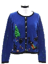 Womens Designer Cat-Tastic Ugly Christmas Sweater