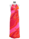 Womens Mod Hawaiian Halter Dress