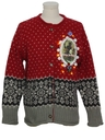 Unisex Amber Lightup Krampus Ugly Christmas Sweater