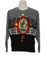 Unisex Vintage Amber Lightup Krampus Ugly Christmas Sweater