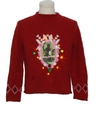 Womens Vintage Amber Lightup Krampus Ugly Christmas Sweater