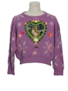 Womens Vintage Amber Lightup Catmus Ugly Christmas Sweater