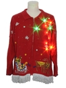 Unisex Hand Embellished Multicolor Lightup Ugly Christmas Sweater