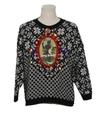 Unisex Vintage Multicolor Lightup Krampus Ugly Christmas Sweater
