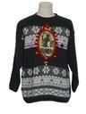Unisex Vintage Amber Lightup Krampus Ugly Christmas Sweater