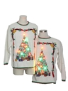 Unisex Multicolor Lightup Ugly Christmas Matching Set of Sweaters
