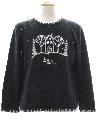 Womens Minimalist Ugly Christmas Sweater