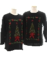 Unisex Matching Set of Two Ugly Christmas Sweaters