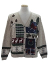 Unisex Country Kitsch Ugly Christmas Cardigan Sweater