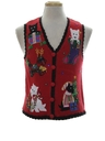 Womens or Girls Cat-Tastic Ugly Christmas Sweater Vest