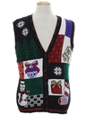 Unisex Vintage Ugly Christmas Sweater Vest